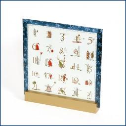 Adventskalender Doppelkarte Schneeflocken