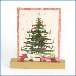 Adventskalender Doppelkarte Tannenbaum