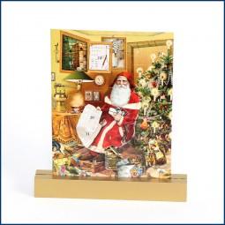Adventskalender Doppelkarte Weihnachtsmann