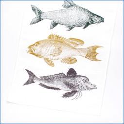 Geschirrhandtuch 'Fisch-Trio'