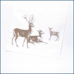 Geschirrhandtuch 'Hirschfamilie'