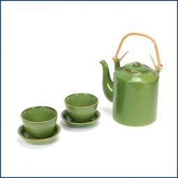 Chinateekanne 'Jade' mit 2 Tassen