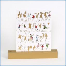 Weihnachtliche Postkarte FRÖHLICHES FEST