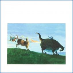 Postkarte 'Drachen'
