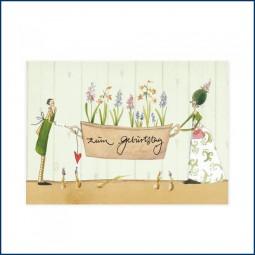 Postkarte mit Märzblumen