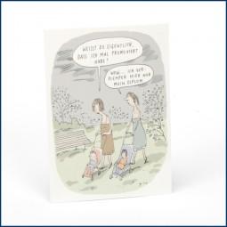 Postkarte 'Promoviert'
