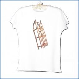 Kurzarm T-Shirt 'Schlitten'