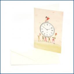 Doppelkarte - Uhr